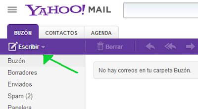 enviar un correo en yahoo