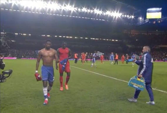 Samuel Eto'o and Mamadou Sakho think it's okay to swap shirts before the final whistle