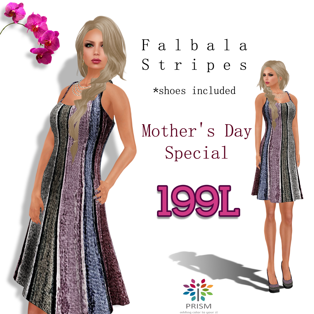 eb91653eae Give your mom a gift that she will enjoy for many days to come for Mother's  Day. Our pretty and popular Falbala Dress in Stripes comes with the matching  ...