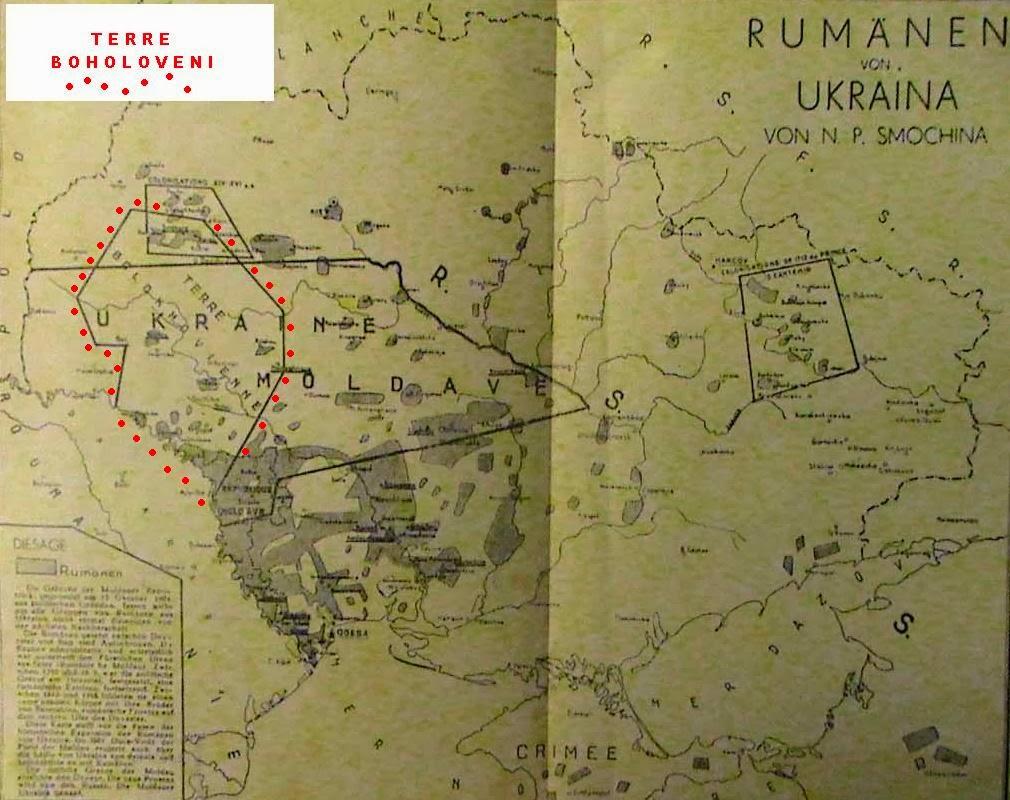 Mappa delle Terre dei Bolohoveni (limiti approssimativi dati dai punti rossi)
