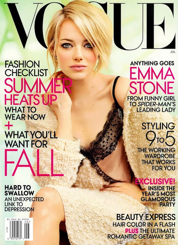 US Vogue July 2012: Emma Stone by Mario Testino