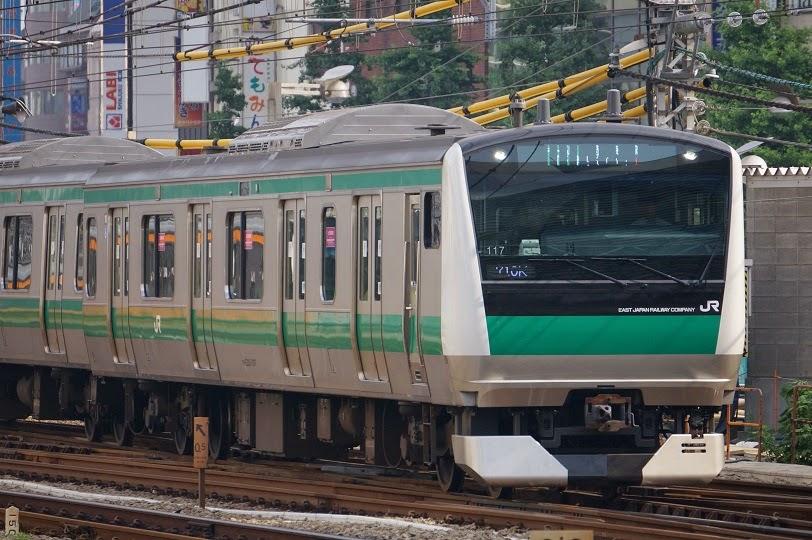 埼京線を走るE233系7000番台