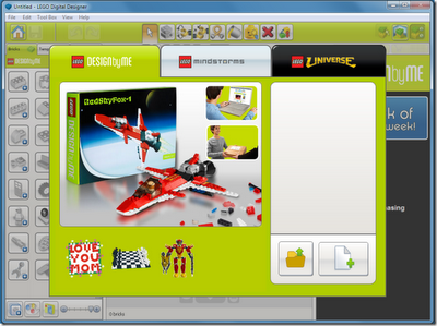 LEGO Digital Designer is a nice application, which works pretty much like real LEGO blocks and allows you to create a very own Lego models on Windows