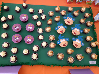 dora the explorer cupcakes, dora cupcakes, boots cupcakes, dora party