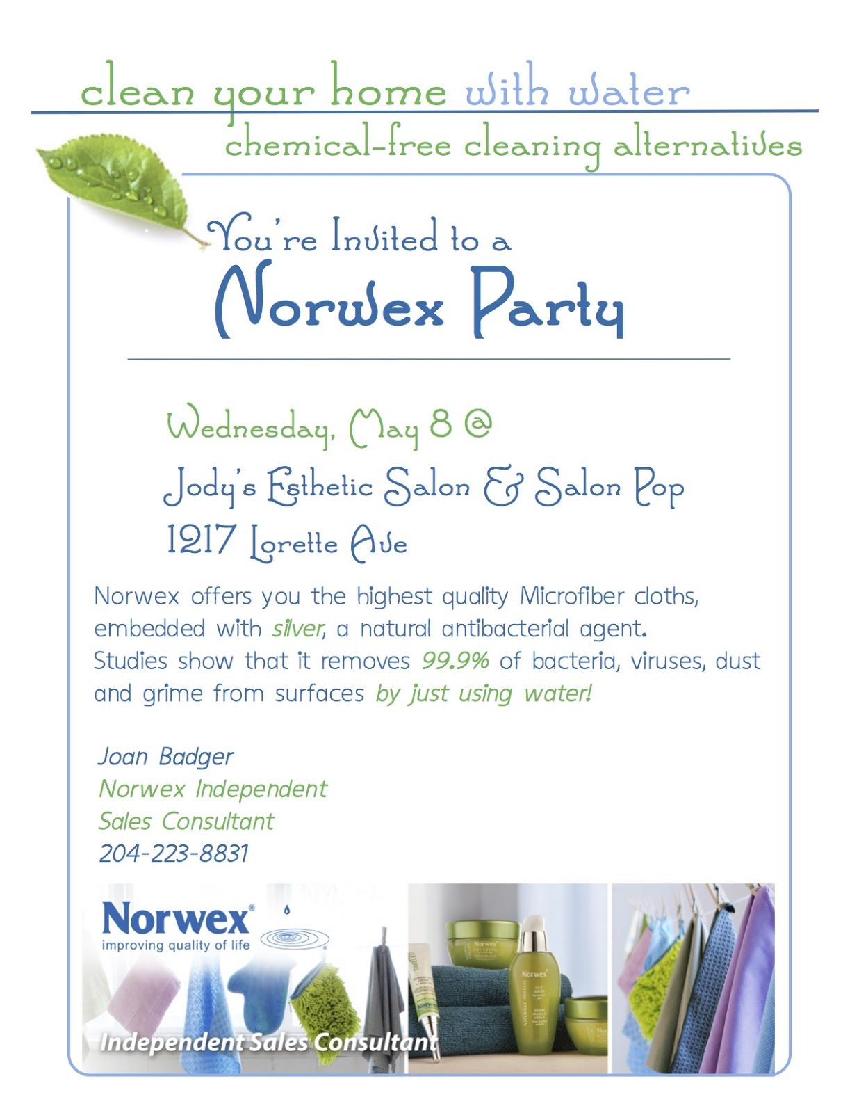 Norwex Party Invitation with luxury invitation example