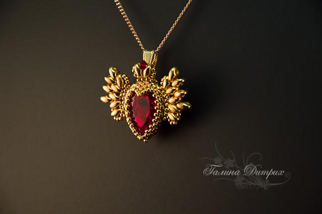 Альбом пользователя GalaDietrih: Кулон Крылатое сердце