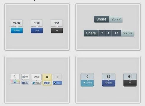 إضافة أزرار المشاركة في المواقع الإجتماعية للمُدونات بلوجر بأشكال إحترافية