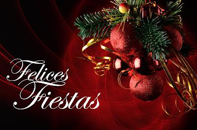 Imagen con mensaje Felices Fiestas