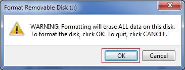 Disk format confirmation