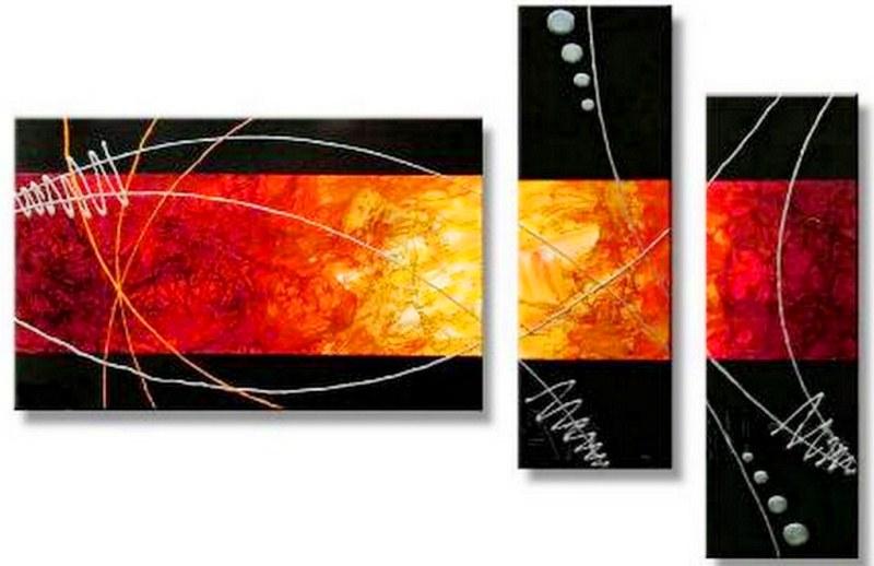 Cuadros pinturas oleos cuadros tr pticos modernos for Cuadros tripticos grandes