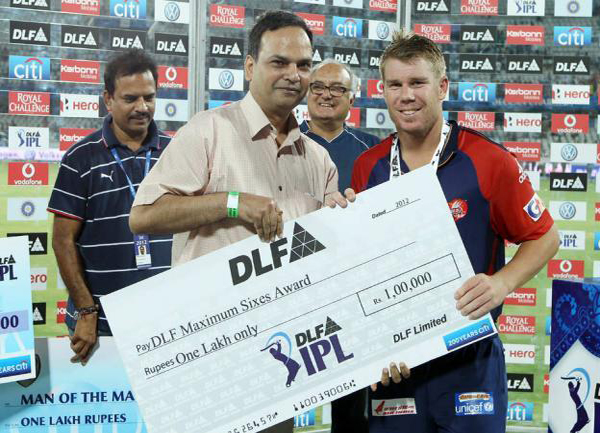 David-Warner-DLF-maximum-sixes-v-DC