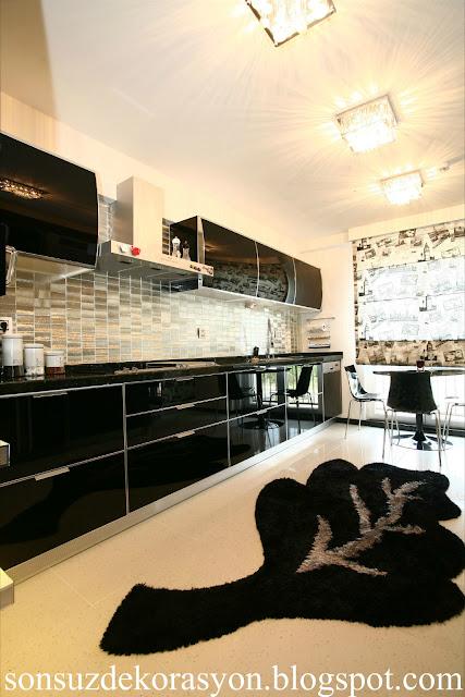 siyah mutfak dolapları