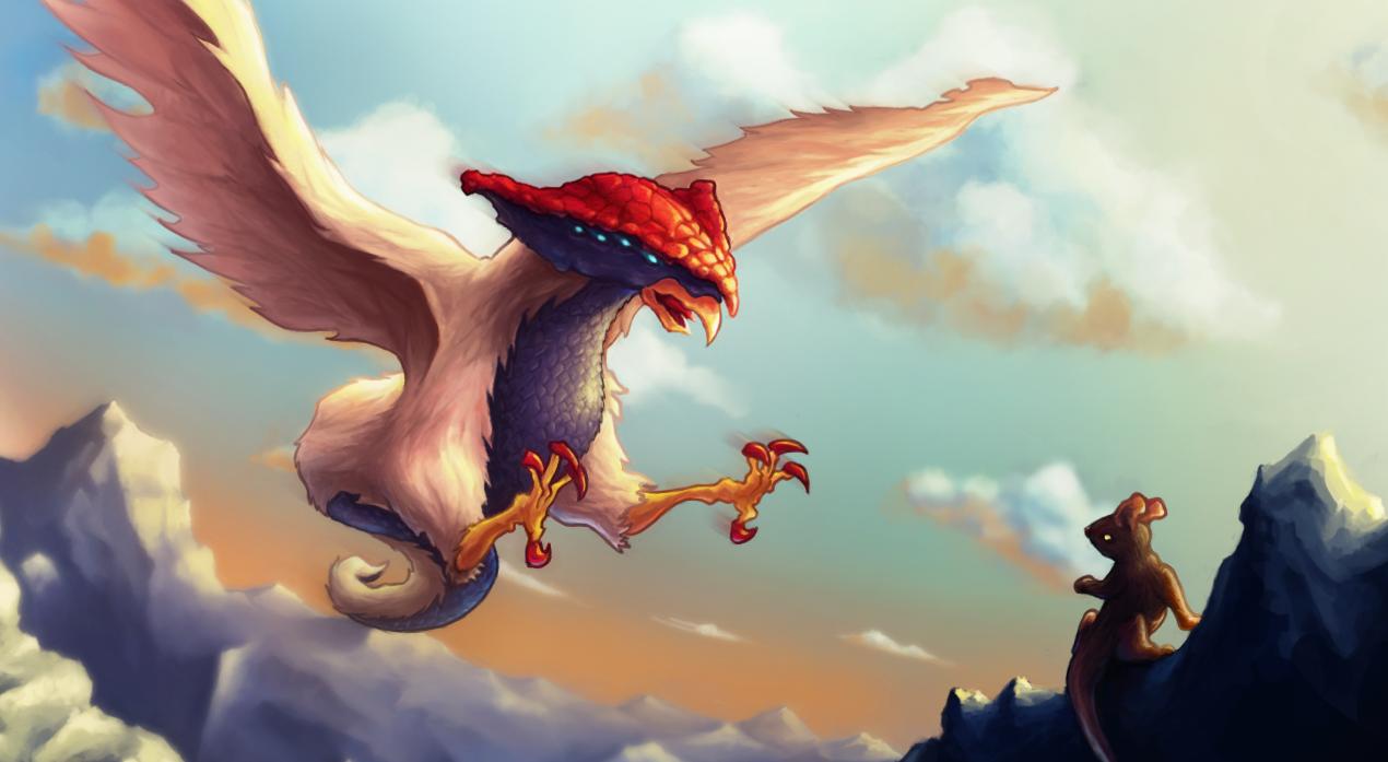 XaB en folie ! Dessin_Libre_2014.08.22-Oiseau-mythique-15