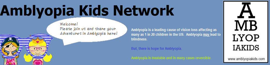 Amblyopia Kids Network | Adventures in Amblyopia (Lazy Eye)