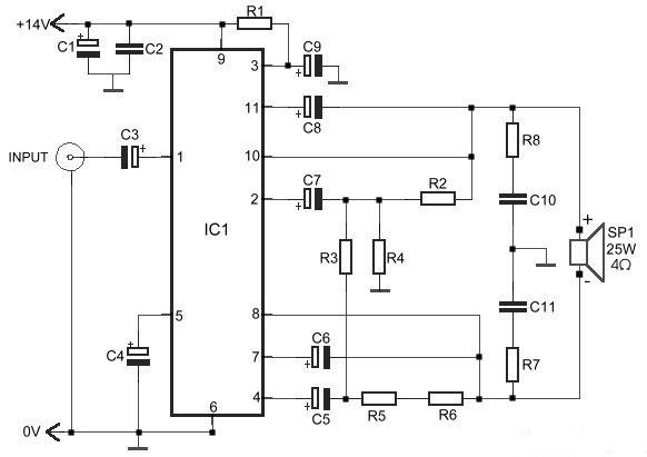 build a 25w bridge audio amplifier with tda2005 circuit knowledge rh deavere blogspot com LM386 Audio Amplifier Circuit 5000W Audio Power Amplifier Circuit