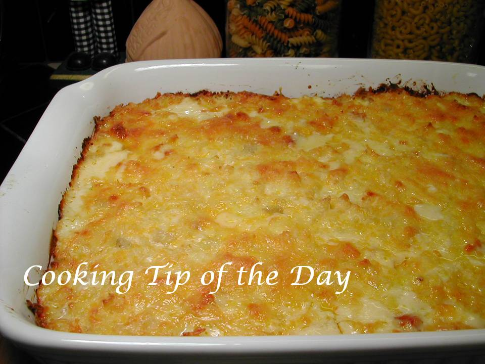 Cooking Tip of the Day: Recipe: Cheesy Ham and Hash Brown Casserole