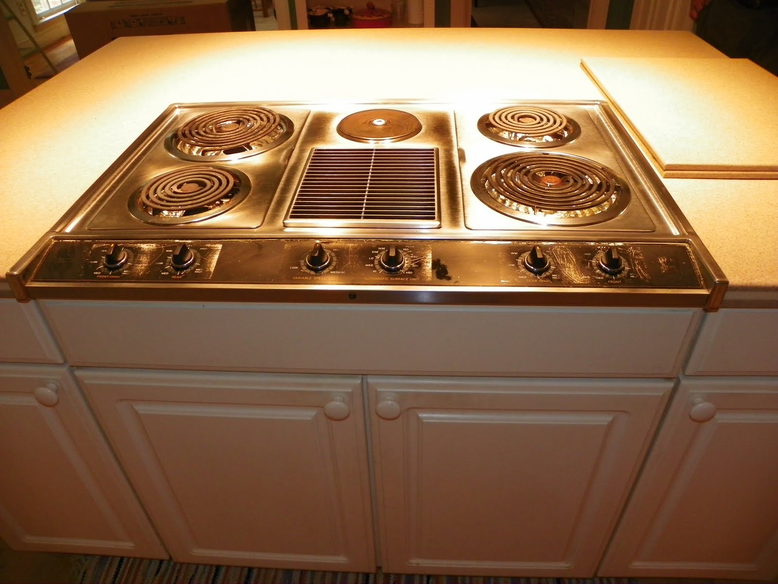 Stove Countertop Replacement : ... Countertop Repair Blog: Corian Countertop Alteration. New Cooktop