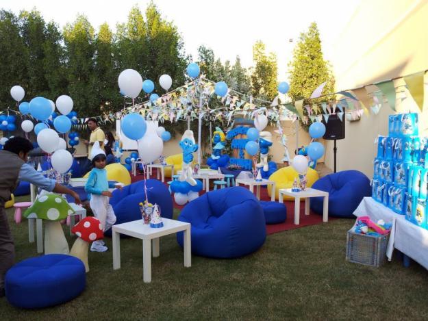 Decoraci n de fiestas infantiles de pitufos smurfs for Decoracion de pinatas infantiles