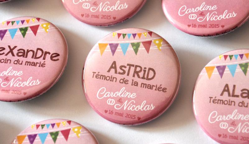 badges plan de table original fte foraine - Badges Personnaliss Mariage