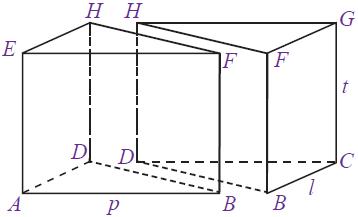volume prisma tegak segitiga siku-siku merupakan setengah volume balok