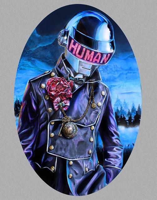 17-Daft-Punk-Une-Joshua-Roman-Rainbow-Portraits-Drawings-Illustrations-www-designstack-co