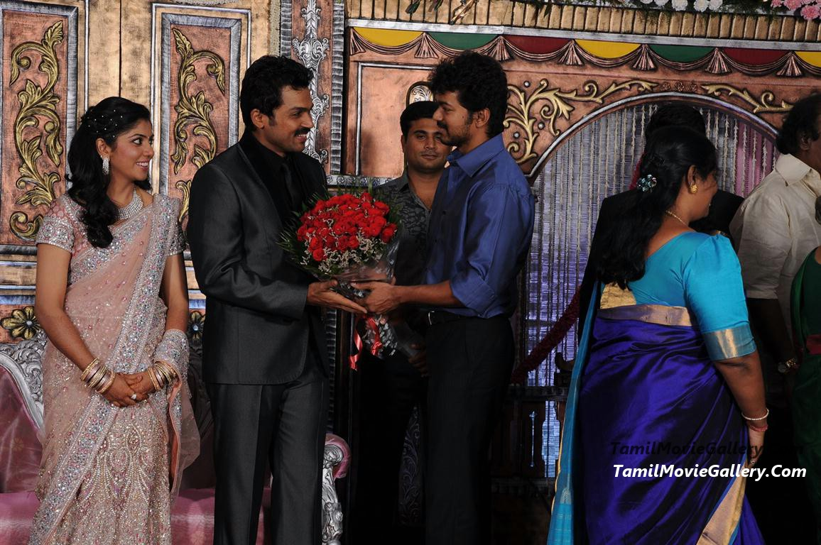 Vijay @ Actor Karthi Reception Photos Suriya, Jyothika @ Karthi ...