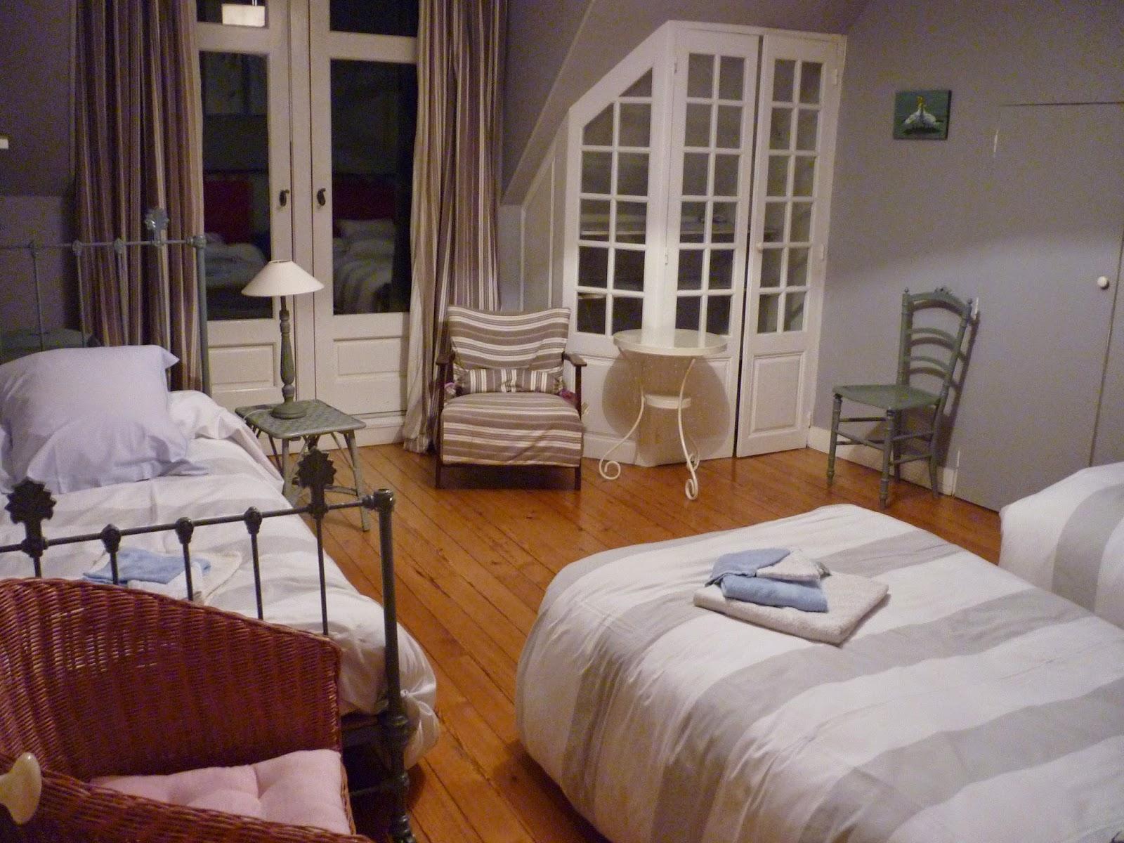 Chambre triple n°2 du Manoir de Beaurepaire en Normandie