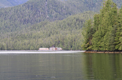 View of West Coast Resort Whale Channel in Barnard Harbour