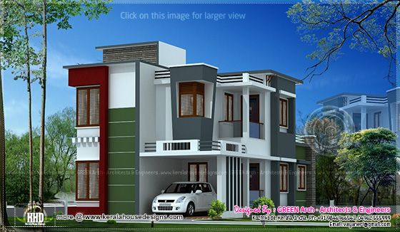 1600 sq-ft villa elevation