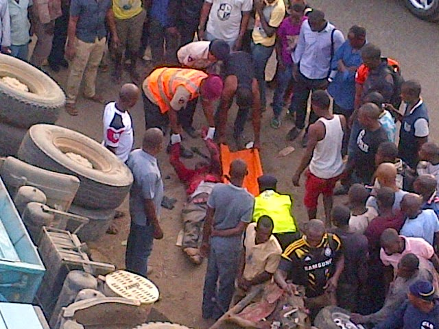 Exclusive photos from the fatal accident in Abuja this morning  2
