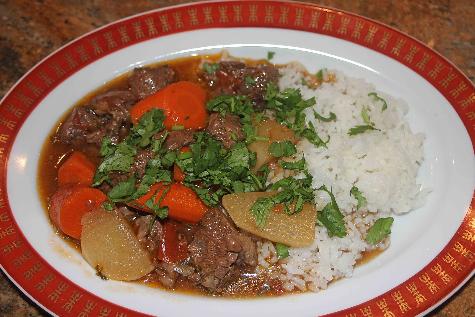 ... with Camissonia: Chinese Soy Braised Beef with Turnips and Carrots