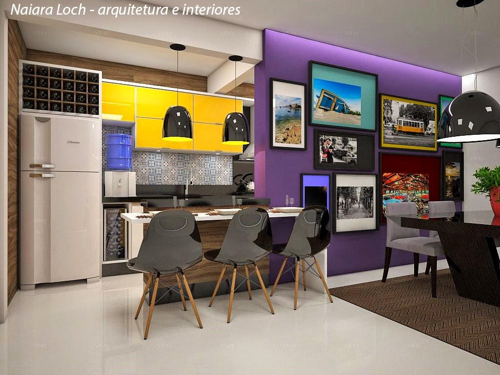 Cozinha contemporânea e descontraída para jovem casal Arquiteta  #C7A404 1024 768