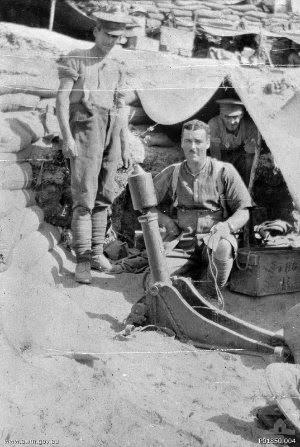 Australian trench mortar battery