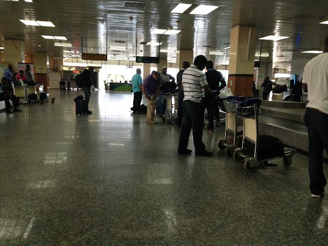 Baggage Claim at Murtala Muhammed International Airport in Lagos, Nigeria, West Africa