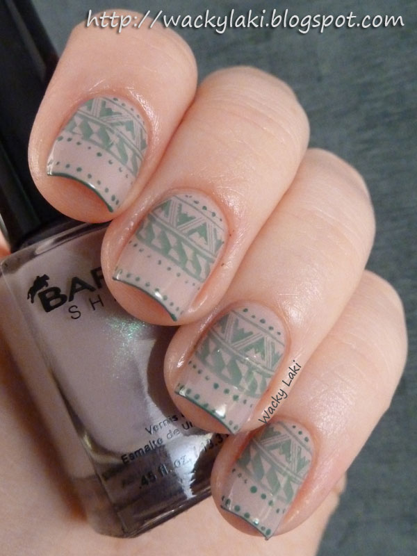 Wacky Laki: Sunday Stamping: Using a French Tip Design