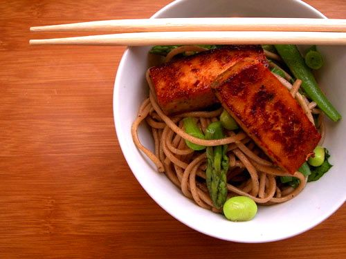 Soba Noodle Salad with Sweet & Spicy Tofu