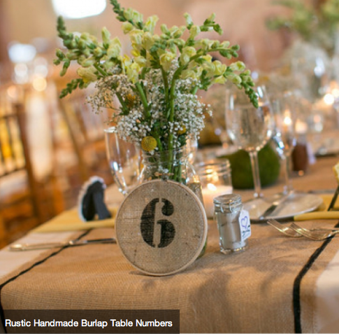 rustic handmade burlap table runners