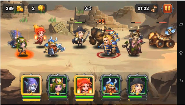 game rpg android terbaik heroes charge