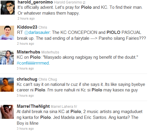 break up kc piolo gay. It can be seen that KC's message which we will quote ...