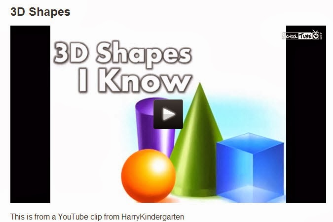 Art Room Videos: 3D Shapes I Know (song for kids)