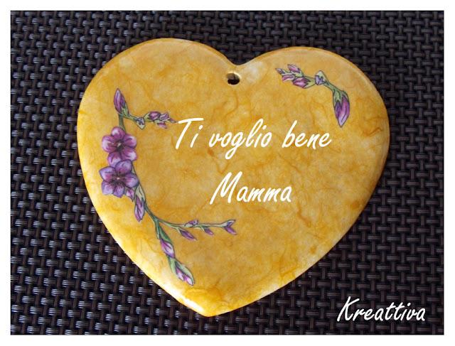 cuore di terracotta per festa mamma