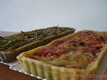 Crostata di noci genovese e di mais con peperoni e cipolla di Tropea