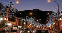 Winterfest lights in Gatlinburg, TN