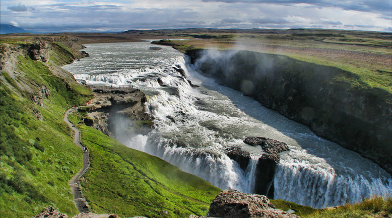 La magnífica Catarata Gullfoss
