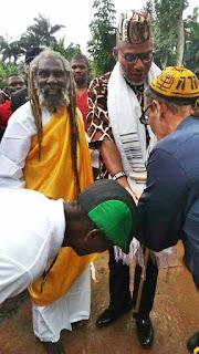 IPOB Leader, Nnamdi Kanu Seen With Spiritual Priest Of Orlu In Imo State (Photos)