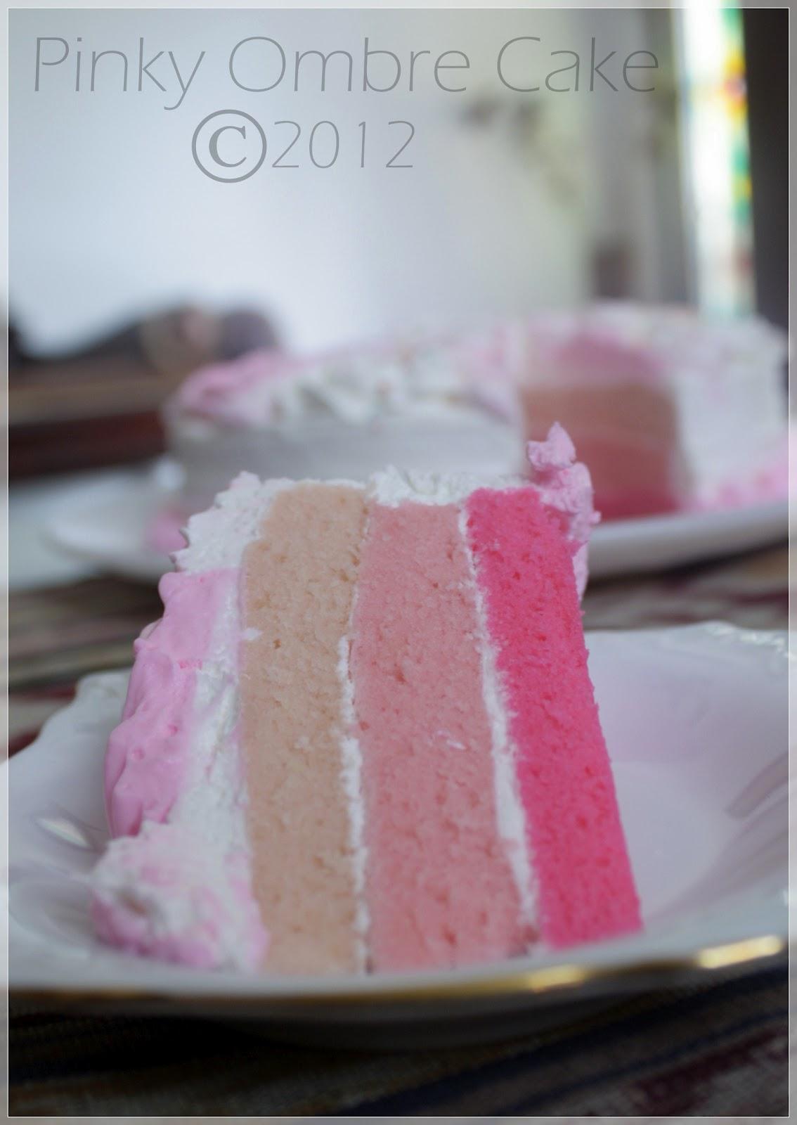 Resep Ombre Cake Panggang