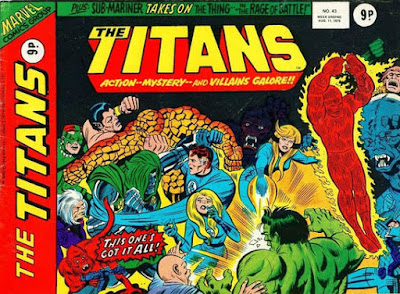 Marvel UK, the Titans #43, the Fantastic Four