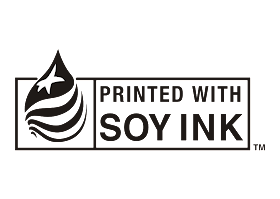 Printed with SOY INK Logo Vector download free