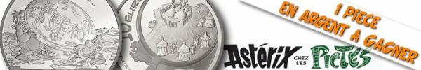 Résultat du concours: Une pièce de 10 euros Argent « Astérix chez les Pictes » à gagner!