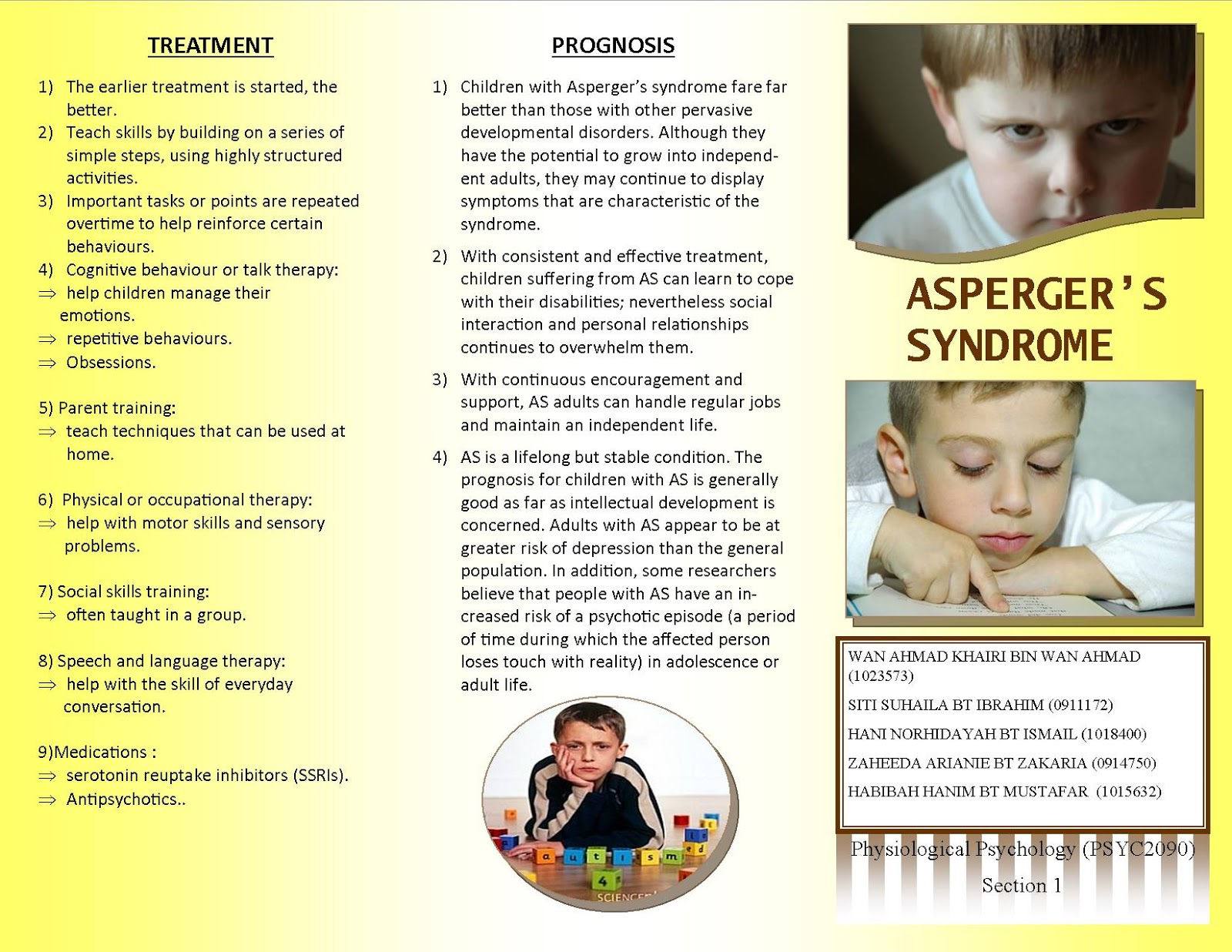 an analysis of aspergers disorder This report on the autism spectrum disorder treatment market identifies many such insights, market opportunities, healthcare recommendations besides providing a detailed analysis of the key service providers of treatment services as well as competitive landscape.
